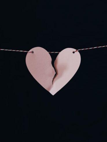 Un coeur brisé suite à un divorce